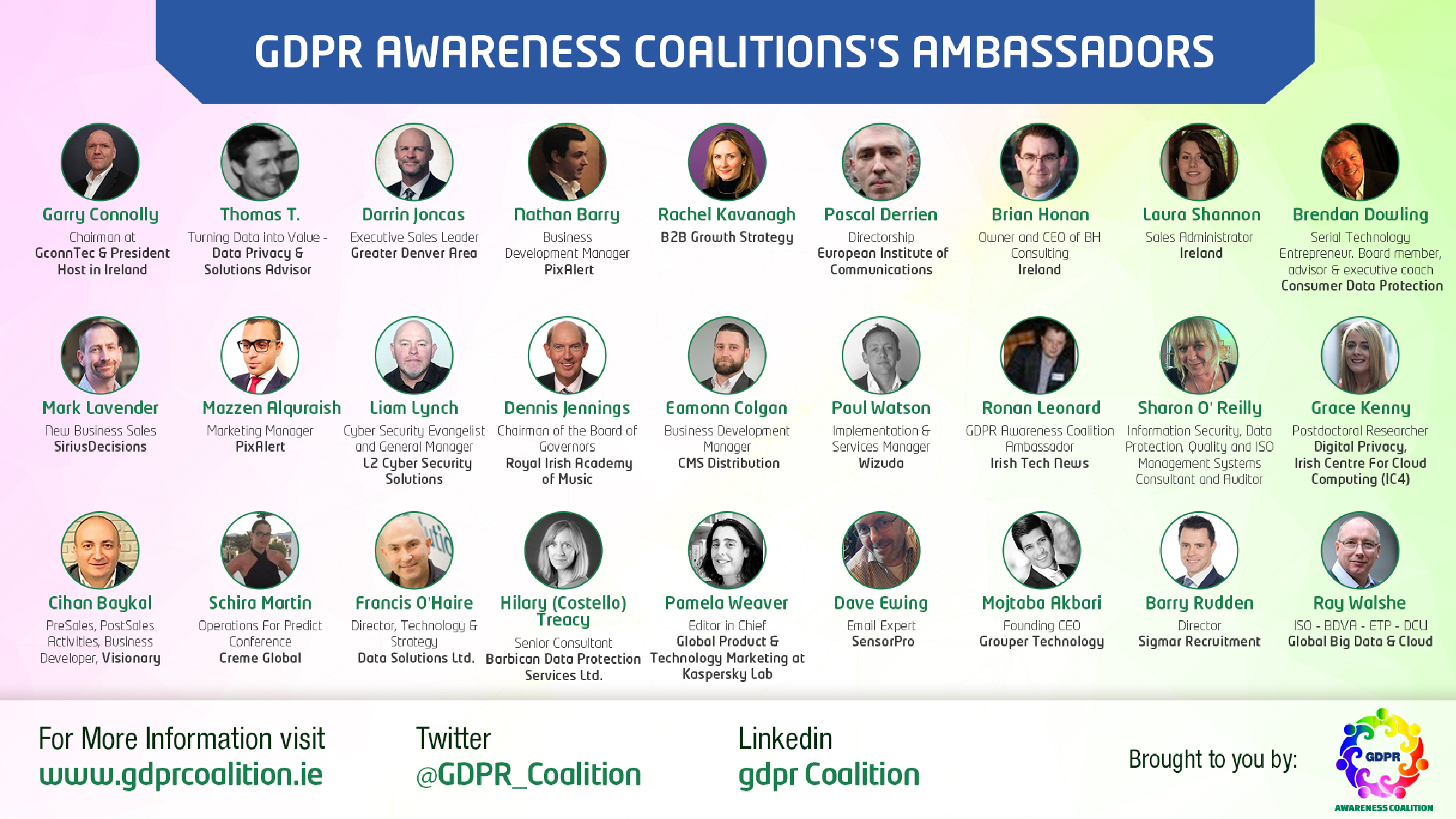 About Gdpr Awareness Coalition Data Protection Consultant The Is A Not For Profit Fixed Term Initiative Established In February 2017 To Assist Raising Of Privacy